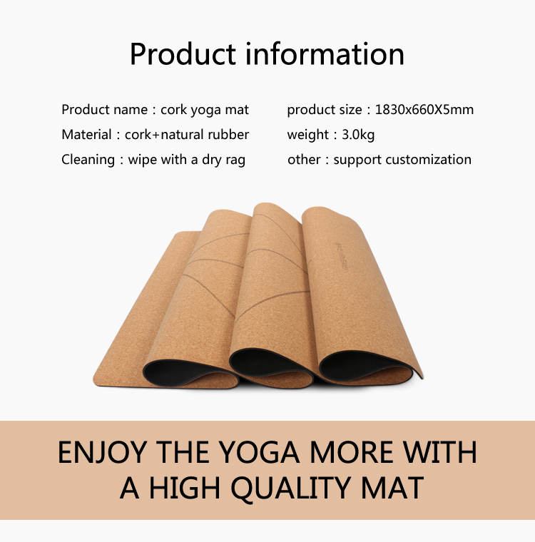 rubber cork yoga mat