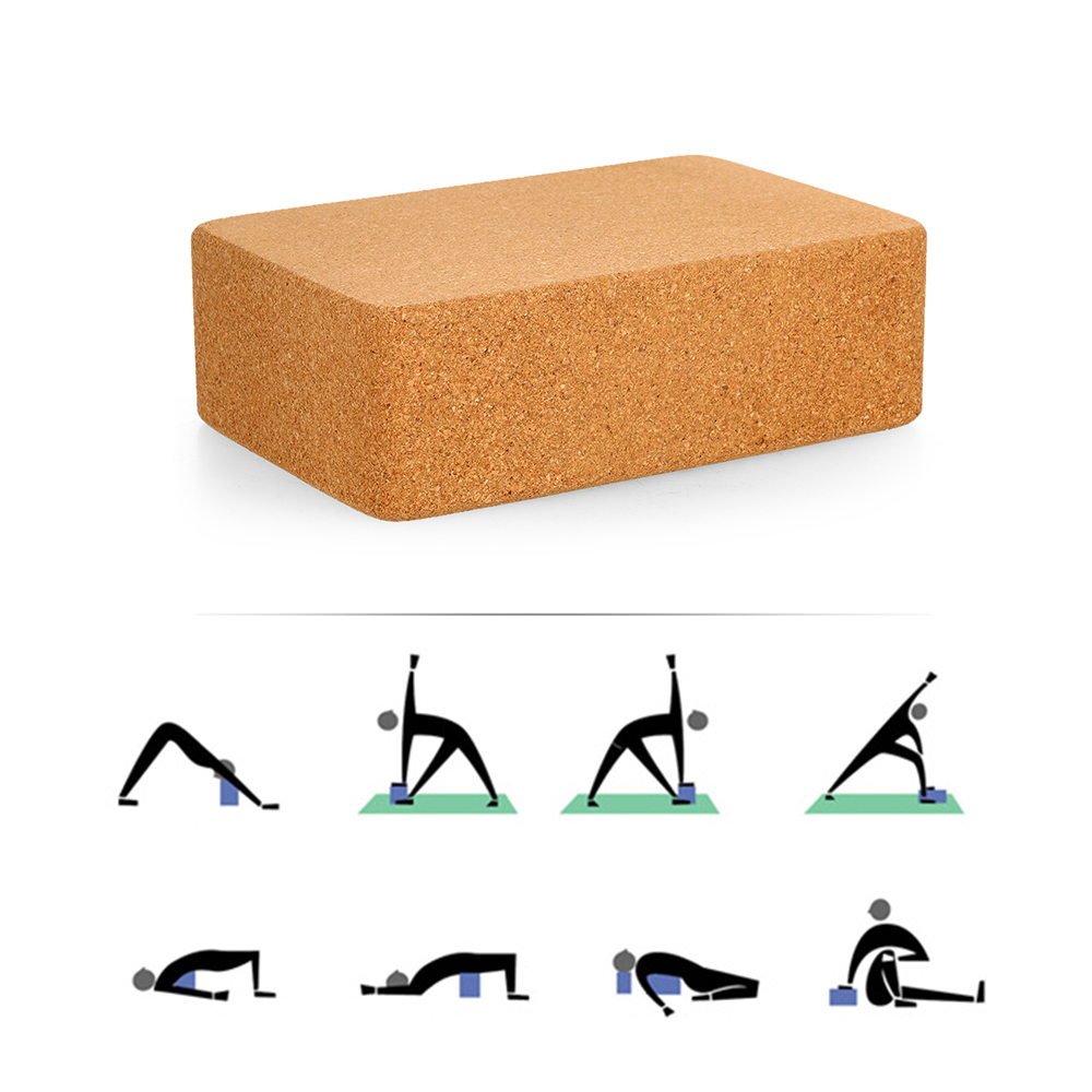 Cork Yoga Blocks Exercise Fitness High Density Practice Tool Natural  Non-Slip Brick Home Health Gym OEM ODM WHOLESALE IN BULK 296227b51acc