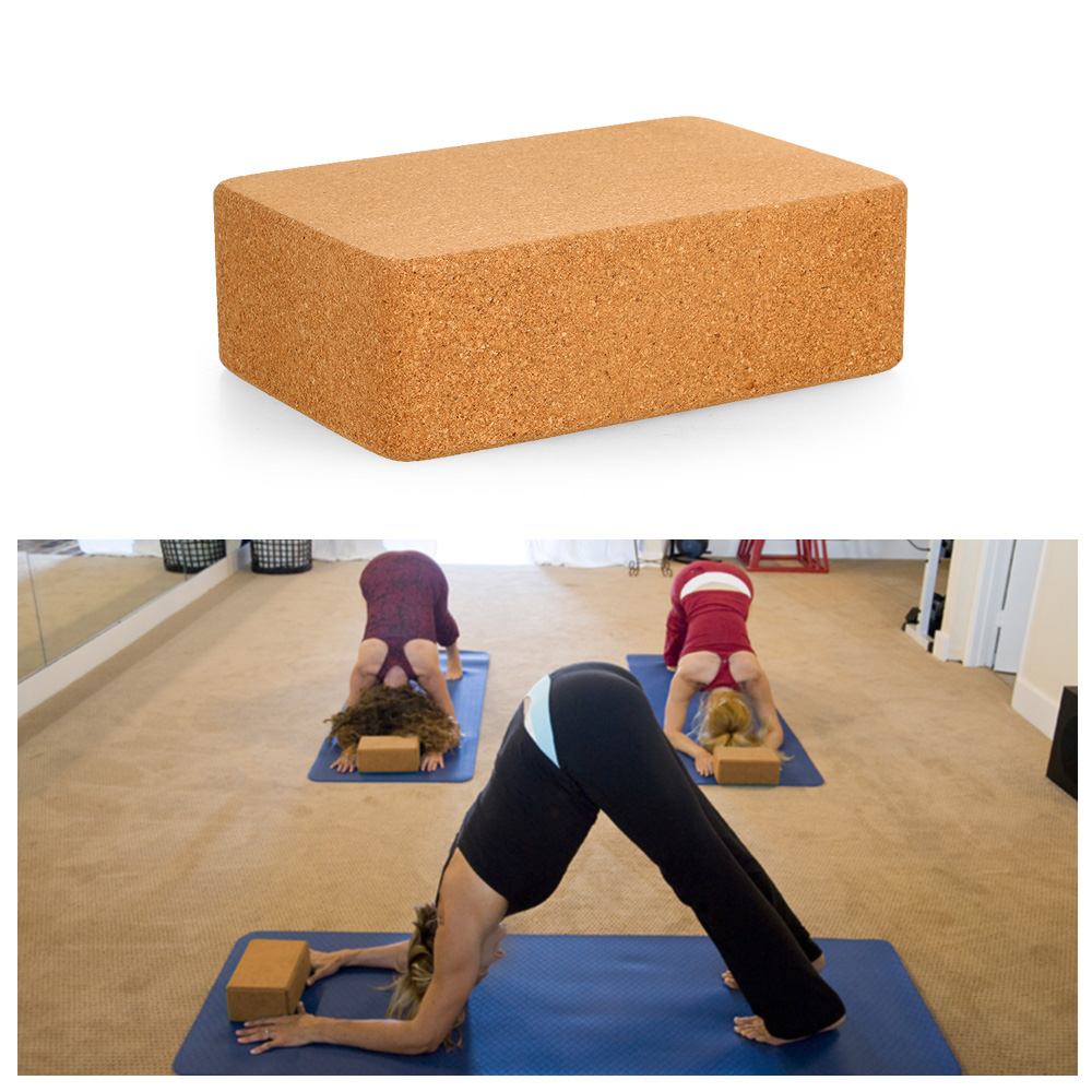 Cork Yoga Blocks Exercise Fitness High Density Practice Tool Natural  Non-Slip Brick Home Health Gym OEM ODM WHOLESALE IN BULK 5666ef63d367