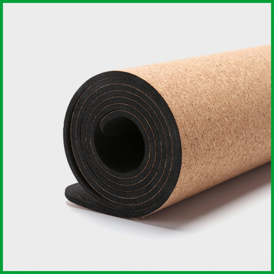 Professional 2018 Eco Friendly Soft Cork Wood Exercise Yoga Mat For Fitness Wholesale Manufacturer And Factory Baishengmei