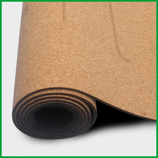Professional 2018 New Style Natural Rubber Eco Friendly Non Slip Custom Printed Cork Yoga Mat Wholesale Manufacturer And Factory Baishengmei