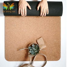 printed cork yoga mat