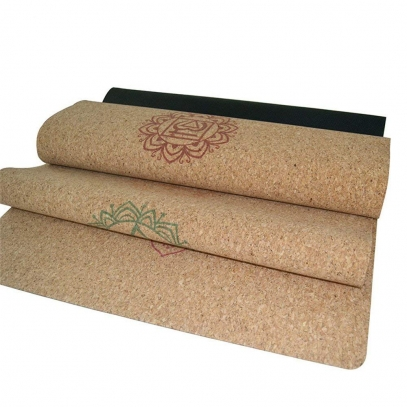 natural rubber cork yoga mat